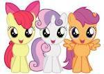 What three fillies are part of the Cutie Mark Crusaders?