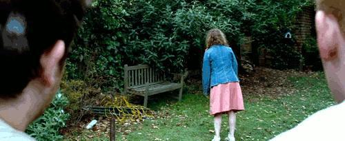 In 'Shaun Of the dead' there is a girl in the garden, what is her name?