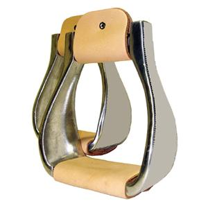 What style uses the type of stirrups pictured?