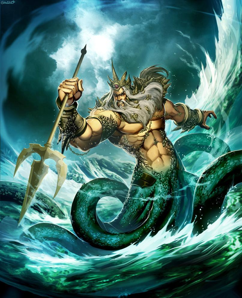 Which of the following does the greek god Poseidon not rule over.