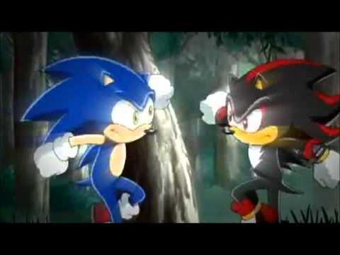 shadow: oh god here he comes. uh... hey! sonic: huh? *looks at shadow* shadow: uh... how's it going buddy?! sonic: *giggling* shadow: what's so god da--! i mean, what's so funny buddy? i wanna laugh with u? sonic: sorry! it's just, it's so funny! u always talk to urself! shadow: well now i'm turning a new leaf! *turns over a green leaf* now that that's done, ur an idiot! sonic: hey, u remember that fun fight we had? (FLASHBACK: sonic & shadow: da dada dada da da dada dada da da!) shadow: yea, except for the fact that we were, uh... dancing like idiots!!!!