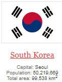 what is capital of South Korea ?