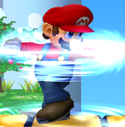In Super Smash Bros. Melee (Gamecube), which technique for Mario is useful for a combo approach/start?