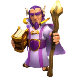 What is the name of the person who looks like a purple wizard?