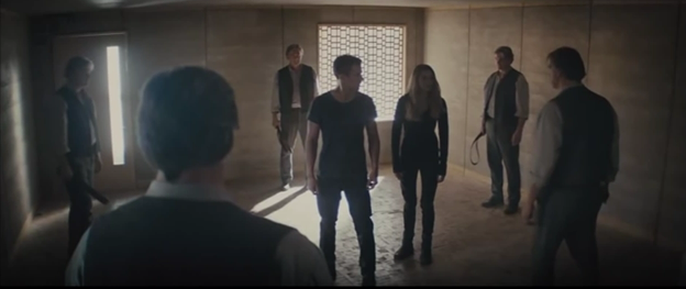 What is Tris doing before following Tobias and finding out his fears?