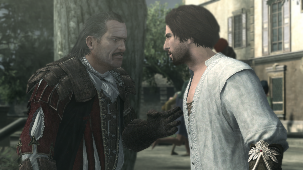 At the beginning of Assassin's Creed Brotherhood, who kills Mario Auditore (Ezio's uncle)?
