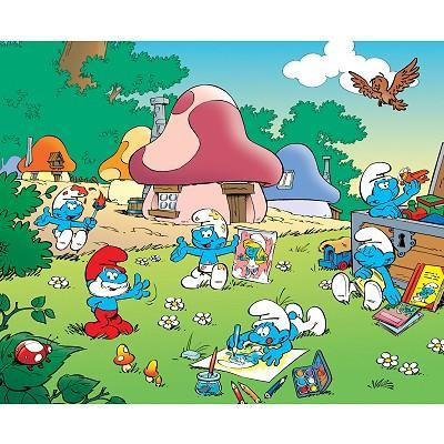 What is the home of the Smurfs called?