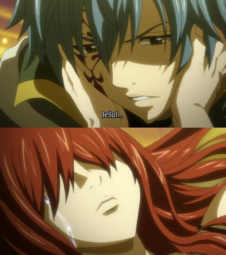 When did Erza and Jellal almost kiss?