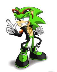 "You walk up and close the window. Relief flew throgh you as the cold disapeared. You turned back around to go back to bed. A green hedgehog with three scars along his chest. He pulled on his black leather jacket. You could feel him stare at you even though this sunglasses. A smirk appeard on his face. He took the glasses off you revel bright blue eyes. ""Night babe"" He said before you blacked out."