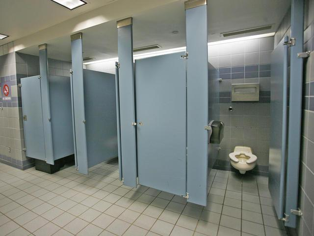 There is a rumor that the school bathrooms are haunted. What do you do?