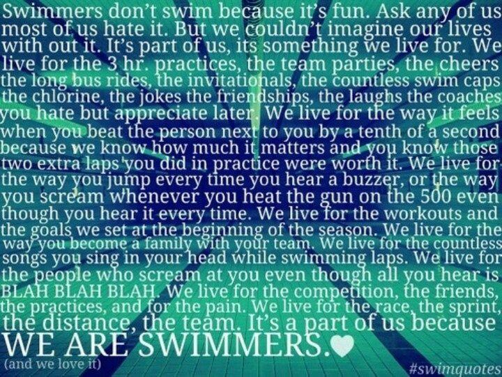 What's your favorite thing about swimming?