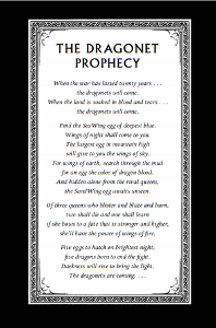 Which of the tribes have a dragonet in the prophecy?