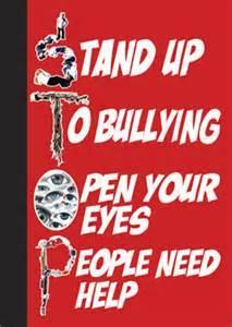 If you see someone getting bullied what will you do?