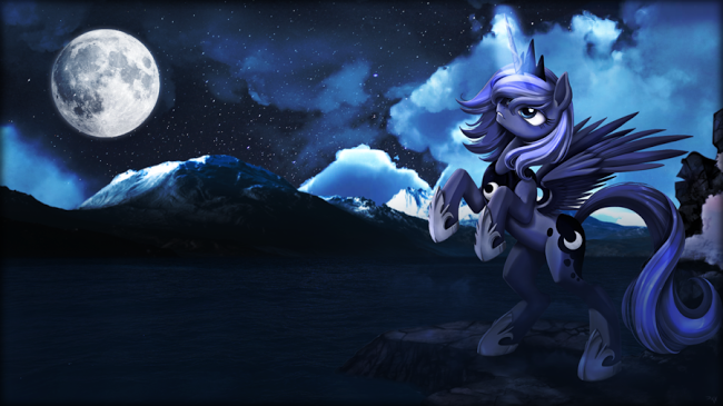 At what special celebration did luna turn evil?
