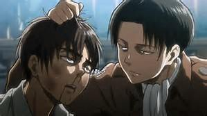 Is Levi's hair color black?