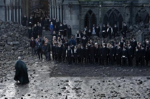 What year did the Battle of Hogwarts of take place?
