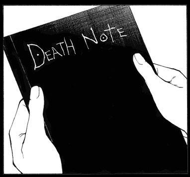The Death Note, an anime and manga, has which plot?