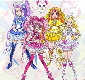 In Suite Precure, who was the mysterious Cure who kept saving Melody, Rhythm, and Beat?