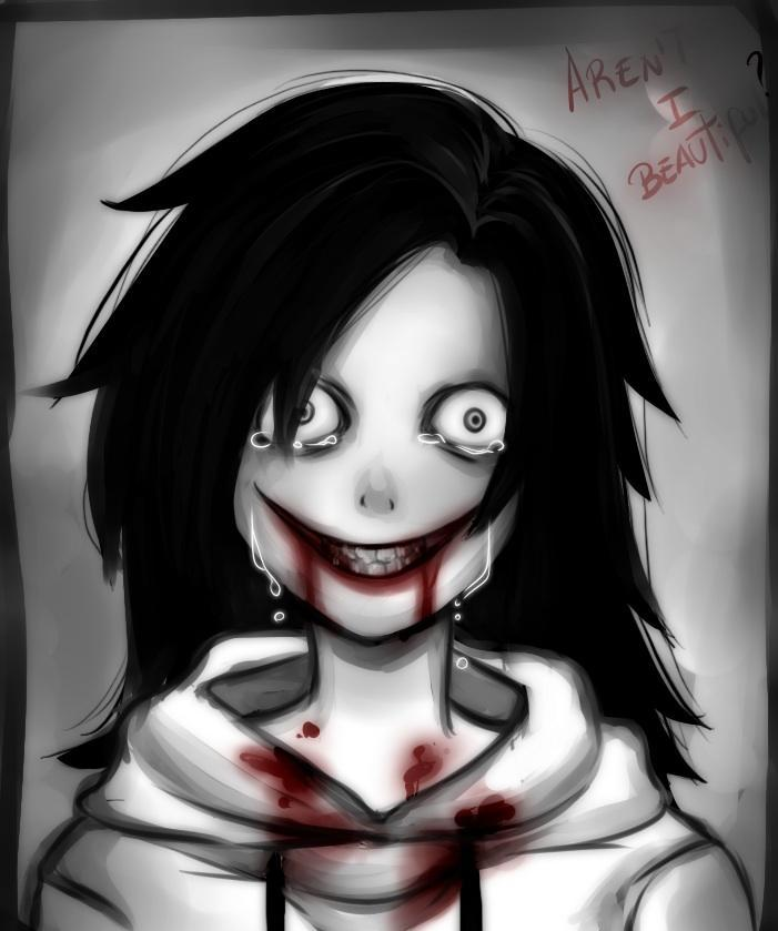 I'm sure you fangirls will love this one! Here is Jeff The Killer! What did he say to his mom?