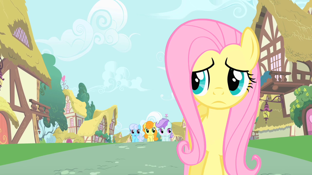 Fluttershy: Well...It's time for me to go now. Me: Well it's been nice seeing you again Fluttershy. We will meet again at the forest or meadow. Fluttershy: Ok! Well I better go now.