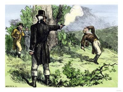Where and when was the Hamilton-Burr duel fought?