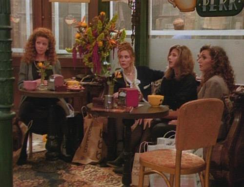 What were the names of Rachel's 3 easily excited gal pals?