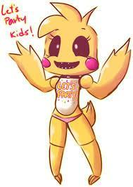 What does Toy Chica hold in her hand?