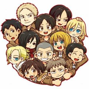 Me : I have some very special guests with me today  Eren: Hello  Mikasa: Hi don't you dare touch Eren Levi : Sup Connie: Hello Petra: ...H..hi Sasha: Hello would you like potato  Hanji: Hey there Do you know were any titans are  Erwin: Hey fellow squad member
