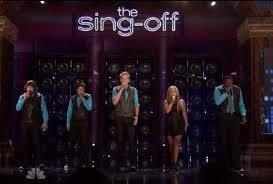 What was the first song they sang on the SingOff?