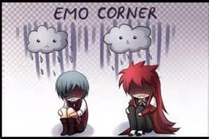 are you emo  grell: i love somewhat emo people :)