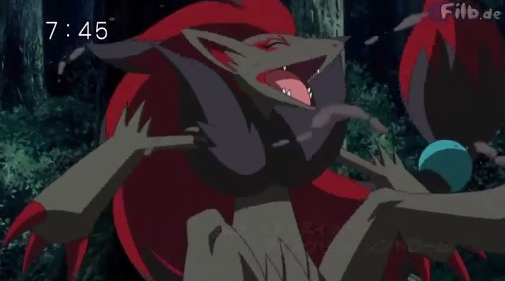 Lucario uses aura sphere against zoroark which knocks it right into a tree. Weakening it as you get ready to use your final attack zoroark gets back up and uses night pulse. What do you tell lucario to do before he gets hit by zoroark's attack?