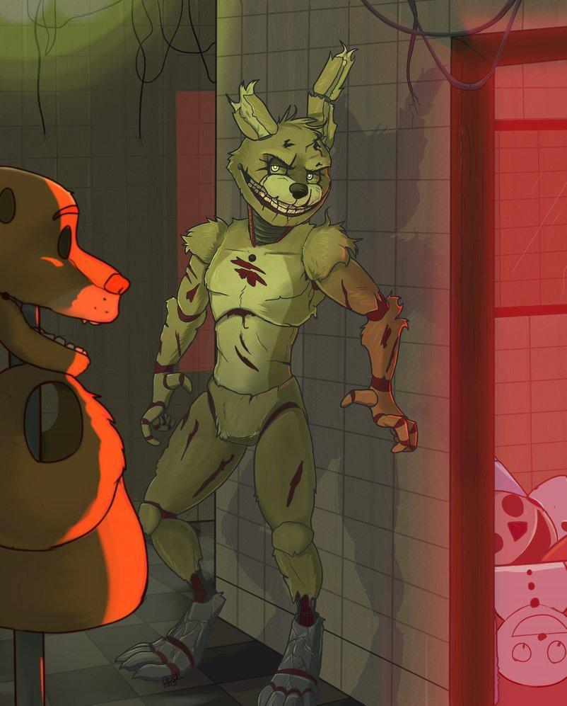 Who was the one too die in the springlock and come back 30 years later as Springtrap?