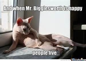 "do you know the ""Mr. Bigglesworth gets Upset"" thing?"