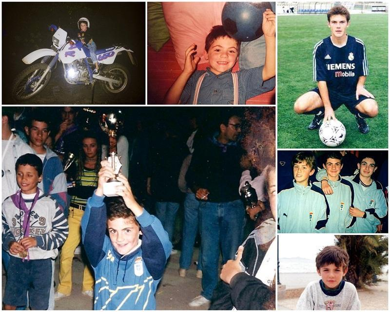 Born in the town of Ocón de Villafranca, Burgos, starting his football career at Real Oviedo, then moving onto Real Madrid, Valencia, Chelsea and Manchester United most recently.
