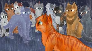 Firestar come here. Firestar: You saw a kit in danger. What do you do? Me: nice one! Firestar: Aw thanks *blush
