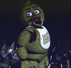 Bonnie ask the question Bonnie: 😠 O-kay. What your relation ship with Chica Chica: Huh? Oh..