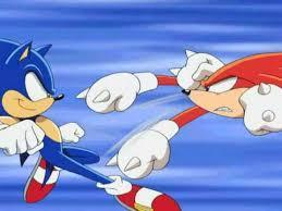 Knuckles:if both of us were in a fight what would you do