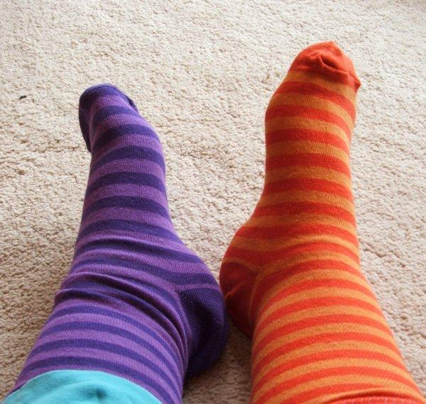 You take off your shoes to find out your socks are two different colors! What is your reaction?