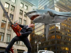 In Sharknado, which famous celebrity plays the father of Fin, the protagonist?