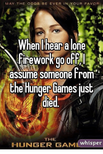 You won the Hunger Games (with or without your ally/district partner)! What is your reaction?