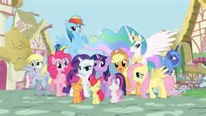 Just then, Twilight and her friends along with the 3 fillies burst in.  Twilight : I enquired about you to Applejack and she said you'd be here. Hope you enjoyed meeting my friends!
