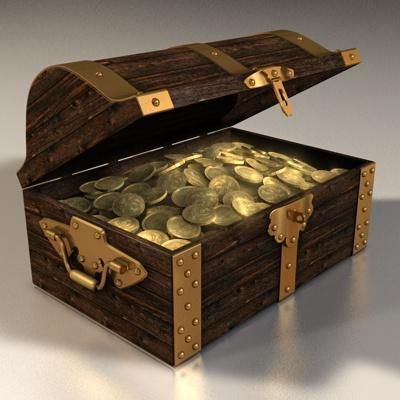 You find a large chest full of money in an abandoned house....