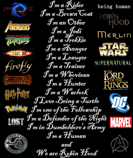 What is your favorite fandom out of these?