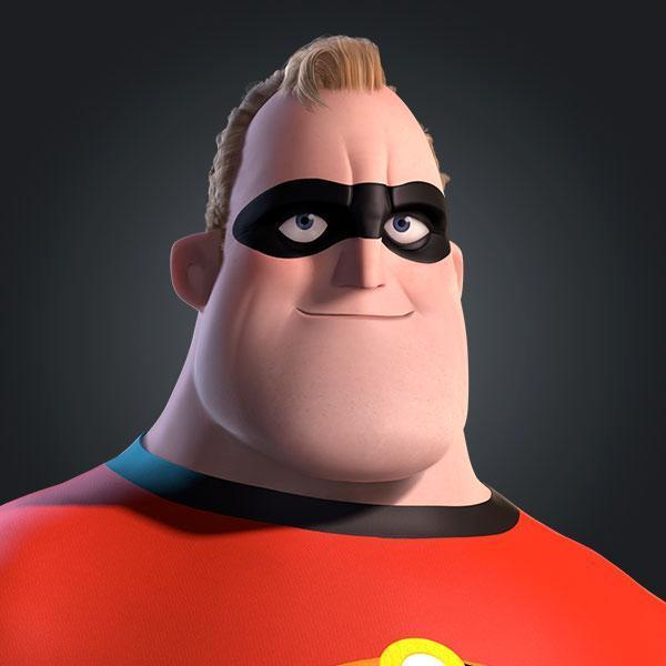 What is Bob Parr's hero name?