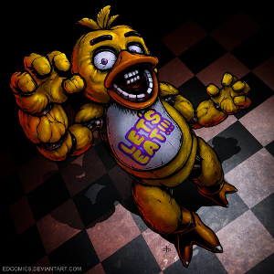 You survive one night but you feel Chica and her evil cupcake watching you, what do you do?
