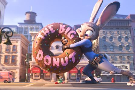 Who's daughter does Judy save from a big doughnut?