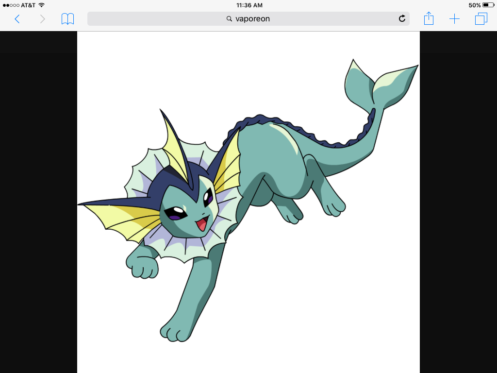 catgiraffe: Okay my slippery friend!  Vaporeon: You called me!! Do you like swimming?