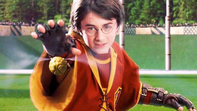 How did Harry catch his first snitch?