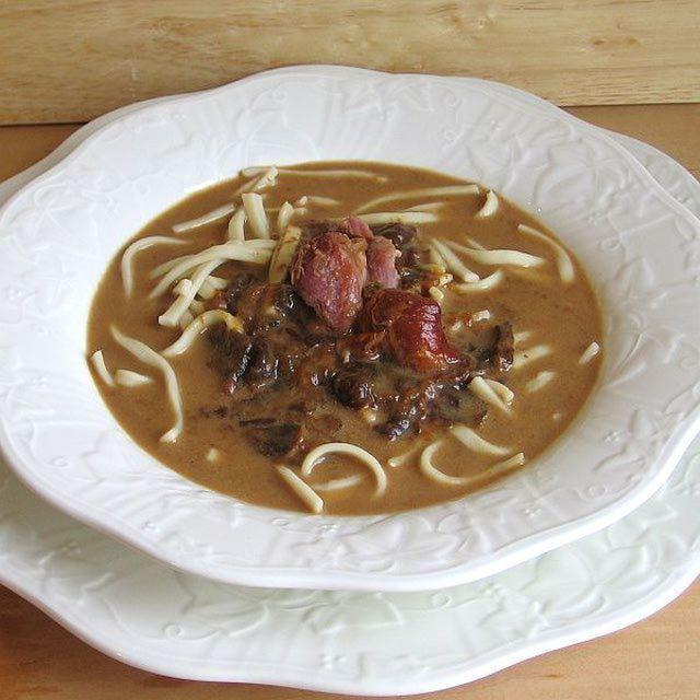 "The soup called ""Czernina"" is part of traditional cousin of which minority?"