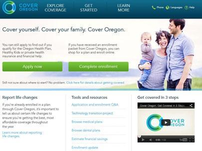 Cover Oregon's website appears to be on the right track for the first time in its history? When does the website have to be ready to be operational, in order to work with the federal exchange?